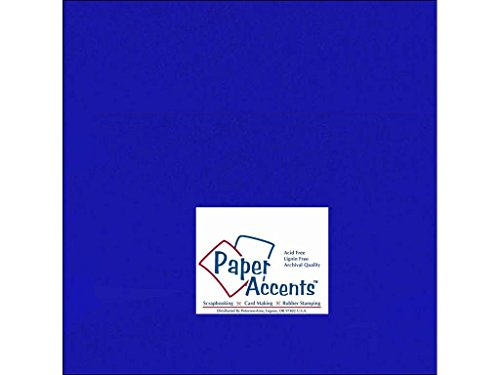 (Accent Design Paper Accents Cdstk Smooth 12x12 65# Royal Blue, 25 Piece)