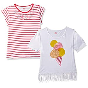 Amazon Brand – Jam & Honey Girl's Tribal Regular fit Cotton T-Shirt