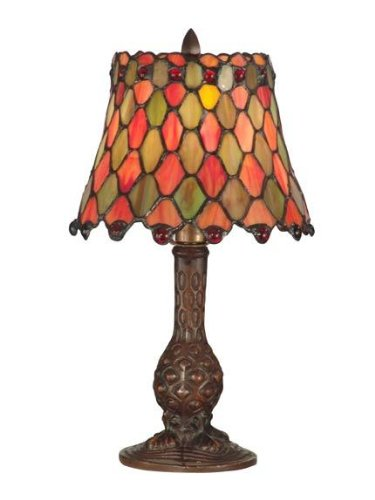 Dale Tiffany TA101340 Tiffany Manti Accent Lamp, Antique Brass ()