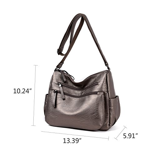Crossbody Clutch Women's Shoulder Shoulder NOTAG Handbag Waterproof Bronze With Leather Adjustable Casual Strap Bag PU Lightweight Bag Multi pocket 4t4x7C