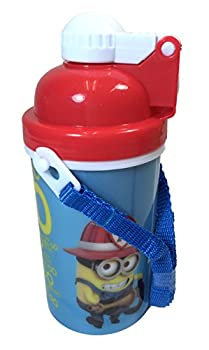Disney/Universal Studio/Marvel Canteen Water Bottle with Pop-up Lid & Straps Tumbler Cup (Despicable Me Minion Blue)