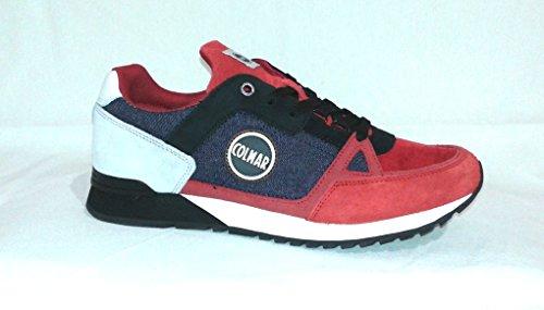 Colmar Travis Supreme Denim 087 - Blu Denim/Rosso - Sneakers Uomo - PE 2018 BLU DENIM/ROSSO
