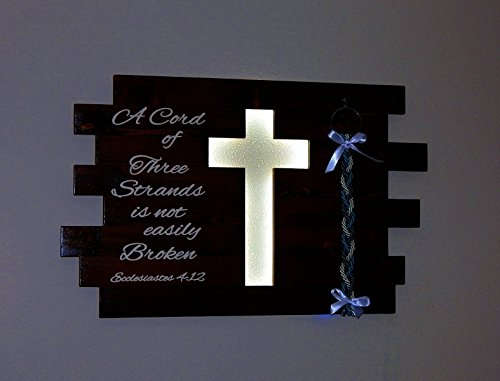 A Cord Of Three Strands Illuminated Cross Wedding Sign Christmas - Cross Illuminated