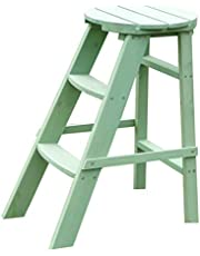 Flower Stand Plant Stand Indoor Outdoor Plant Stand Wooden Flower Stand Floor-Standing Multi-Layer Flower Stand Living Room Flower Pot Stand Balcony Shelf (Color : Green, Size : 49 * 34 * 60cm)