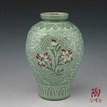 Amazon Korean Celadon Glaze Semi Round Inlaid Copper Paint