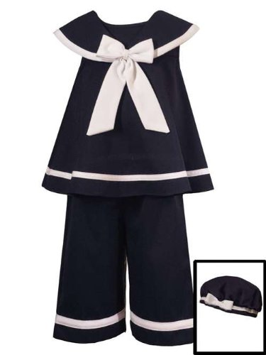Rare Editions Baby Girls' Nautical Capri Set