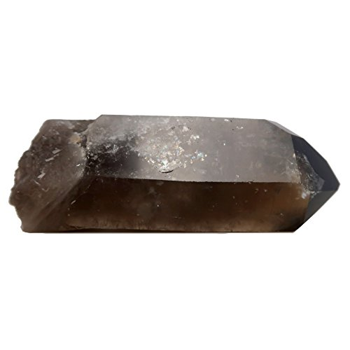 Smoky Quartz Wand 03 - Rough Point Chunky Stone Polished Tip (5.2 Inches) by I Dig Crystals