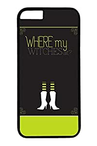 iPhone 6 Case, Personalized Protective Where My Witches for iPhone 6 Pc Black Edge Cover
