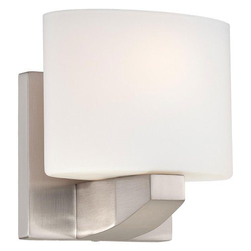 Minka Lavery Wall Light Fixtures 5241-84 Modern Craftsman Wall Bath Vanity Lighting, 2-Light Xenon 150 Watts, Brushed Nickel