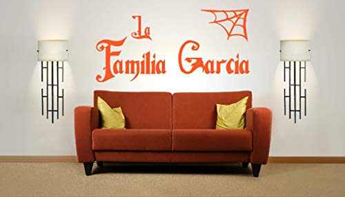 Personalized Halloween Family Name, Addams Family, Vinyl Wall Art Sticker. Mural, Decal. Home, Wall Decor. Living Room, Bedroom, Hallway, Dining Room. Addams Famillia]()