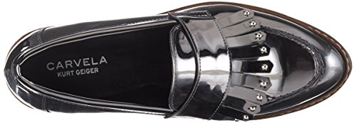 Carvela Women's Lucile Np Loafers Silber (Gunmetal) Ljcy9Vic