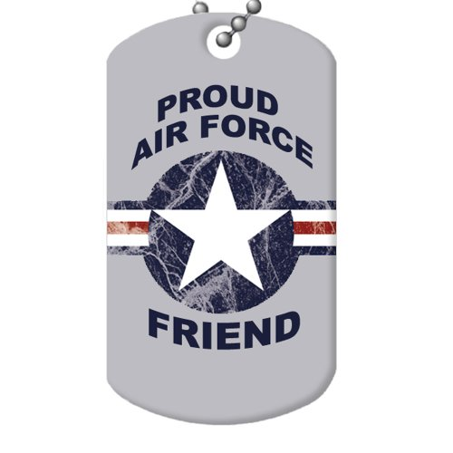 Proud Air Force Friend Dog Tag and Chain