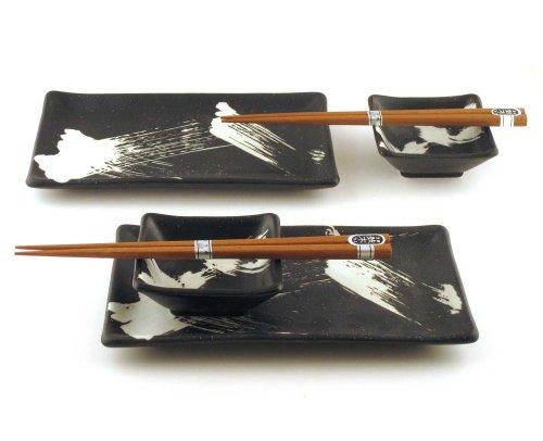 Sushi Dinner - Brush Stroke 6 Piece Dinnerware Set