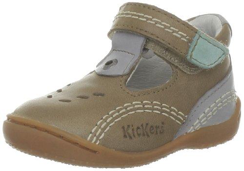 Kickers Baby Jungen Gulli Lauflernschuhe Beige - Beige (Beige Foncé Turquoise)