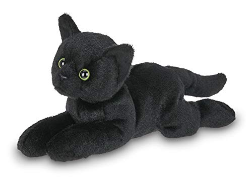 Bearington Small Plush Stuffed Animal Black Cat, Kitten 8 inches