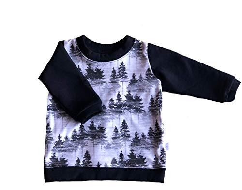 (Hau'oli Apparel GOTS Certified Organic Cotton/Tencel Fleece Sweater Baby Boy (Forest Print, 3-6m))