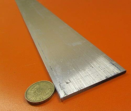 JumpingBolt 6061 T651 Aluminum Bar, 1/8'' (.125'') Thick x 2 1/2'' Wide x 36'' Length, 2 Units Material May Have Surface Scratches