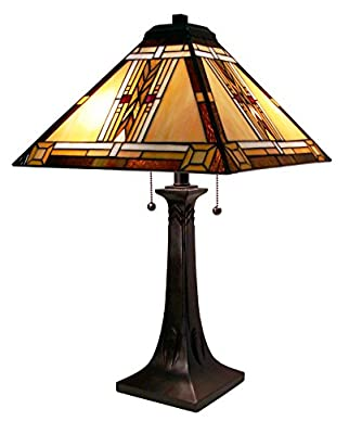 Fine Art Lighting Tiffany Table Lamp, 16 by 25-Inch, 292 Glass Cuts