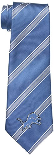 NFL Detroit Lions Men's Woven Polyester Necktie, One Size, Multicolor
