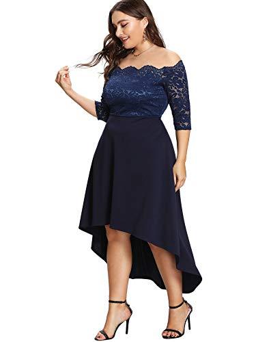 Valentine Plus-Size Lace Midi Dresses