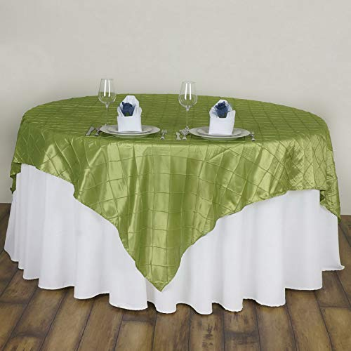 Mikash 10 pc 60x60 Pintuck Table Overlay Wedding Linen Supply Wholesale Decorations | Model WDDNGDCRTN - 19045 |