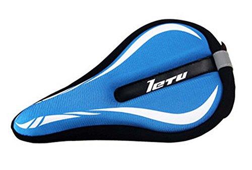 Hochwertige Silikon-Mountainbike-Sattel-Fahrrad-Sitz 3D-Sitz, Blau