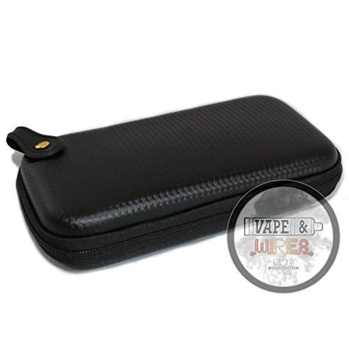 [Vape and Wires] Carbon Fiber Pattern Design Hard Carrying Case for Kanthal Wire, E-Liquid, Vapes, Vape Mods [CASE (Pattern Cigarette Case)