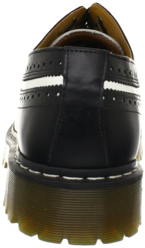 Martres Black white Lisse Noir Dr Martens Dr Unisex 3989 Brogue Unisexe Brogue Adults' Smooth Adultes Blanc 3989 Cpx0Yqxwz
