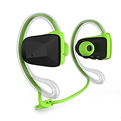 Sports Waterproof Sweat Proof Headphone Wireless APT-X Bluetooth 4.0 Music Stereo Headset Earbud With NFC&Dual Microphone And Answer Calls-For iPod touch 5,iPhone 5,5s,5c,iPhone 6,6 Plus,Samsung Galaxy S5 ,S4,S6, Note 3,Note 4,iPad air 2, Google,Sony,LG l