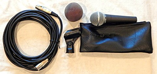 (Shure VINTAGE SM58-LC Cardioid Dynamic Studio Microphone (GRAY WS) W/ Pouch, Windscreen, Clip, 20 FT Cable - Shure 2003 - VINTAGE USED Recording Studio Gear graded 9.6)