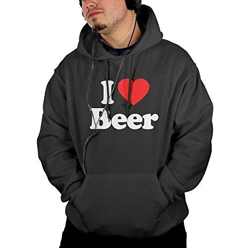 Beer Pong Costume Couple (Love Beer Heart Men's Geek Long Sleeve Hoodie S)