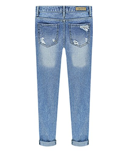 Pantalones Jeans Jeans Cadera Vaqueros Jeans Azul Mujer Cut 1xtwnqFE1S