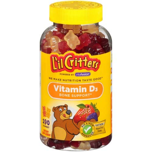 Lil Critters Vitamin D3 Gummy Bears (Pack of 8)