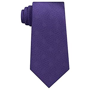 Michael Kors Mens Textured Squares Silk Pattern Neck Tie Purple O/S