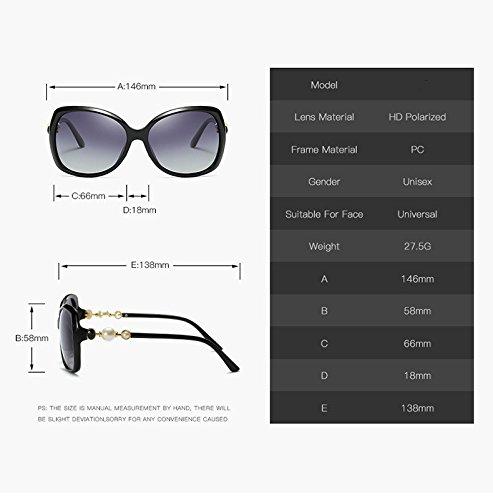 de Gradient de UV400 ZX 2 Alta Moda Color Sol Sol Adultas Calidad la Butterfly de para Mujer 2 Gafas Nueva Gafas Polarized Lens Estilo wqqYA7x