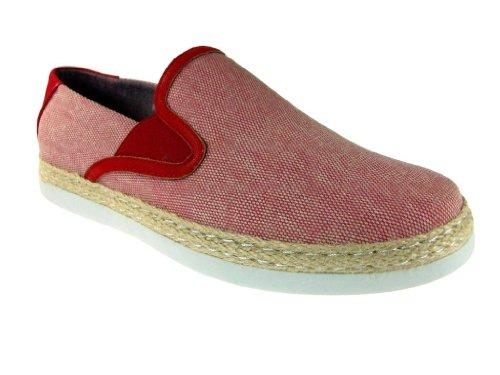 Heren Alexander63 Canvas Casual Comfort Slip Op Schoenen Rood