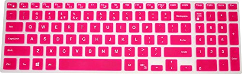 PcProfessional Hot Pink Ultra Thin Silicone Gel Keyboard Cover for Dell Inspiron 15 5000 Series 15.6