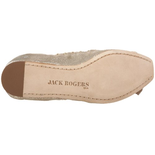 Jack Rogers Womens Tansy Flower Moc Platinum
