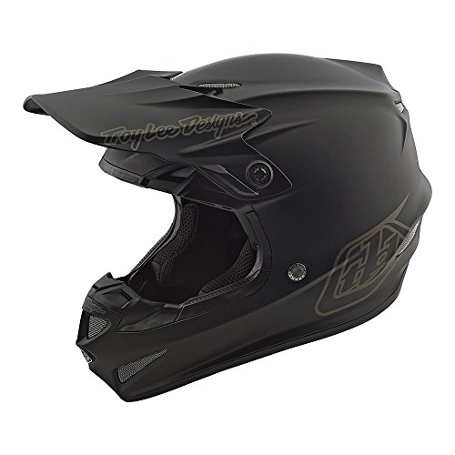 Troy Lee Designs SE4 Polyacrylite Mono Off-Road Motocross Helmet (Black, Medium)