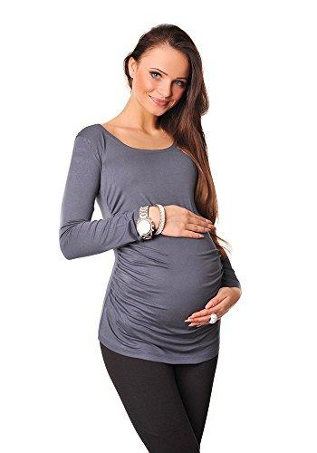 Purpless Maternity Maternidad Blusa Con Mangas Largas 8041 Graphite