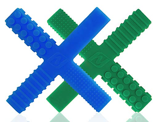Sensory Chew Stick Toys for Boys Girls Kids with Autism, ADHD, SPD, Oral Motor Needs - Tough Hardness Teething Chewy Tubes with 4 Unique Textures (2 Pack)