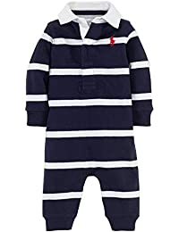 Polo Ralph Lauren Infant Boys Rugby Striped Coverall