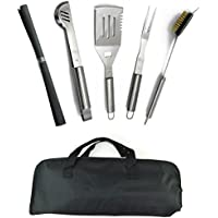 ValdoHome New Stainless Steel BBQ Grill Tools Set - 5...