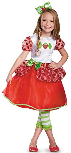 Strawberry Shortcake Halloween Costume (Strawberry Shortcake Deluxe Costume, Medium (7-8))