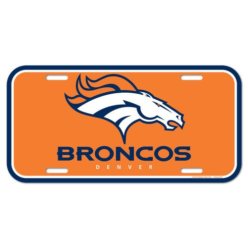 NFL Denver Broncos License Plate, Team Color, One Size Denver Broncos Nfl Precision Cut