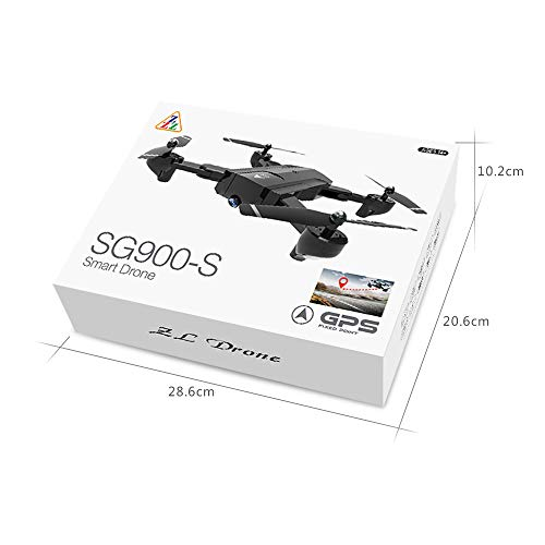 Lovewe SG900 RC Foldable Quadcopter 2.4GHz WIFI FPV GPS Fixed Point Drone for Kids and Beginners With 720P/1080P HD Camera, One Key Return (1080P) by Lovewe_Drone (Image #2)
