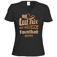 getshirts - RAHMENLOS® Geschenke - T-Shirt Damen V-Neck - Die tut nix - Die...