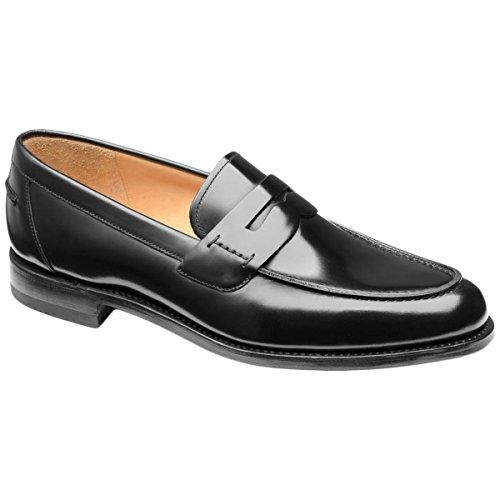 Loake Chaussures Pour Hommes En Cuir Noir 256b