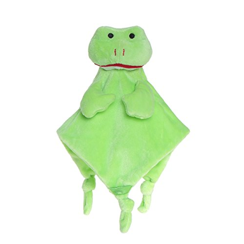 Soft Infant Security Blanket Toys-Wingingkids Baby Security Blankets Toy for Toddlers Plush Toy Green Frog (Frog Blanket Security Baby)