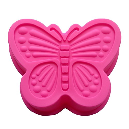 Allforhome Butterfly Silicone Cake Baking Mold Cake Pans Muffin Cups Handmade Soap Molds ()